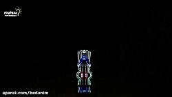 رقص نور با حرکت انسان د...