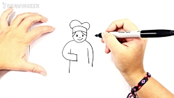 How to draw a Cook | Cook Easy Draw Tutori...