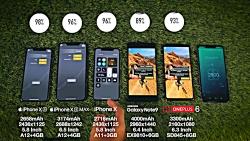 تست باتری iPhone XS   XS Max vs Galaxy Note 9 vs iPhone X