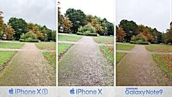 مقایسه دوربین iPhone XS و iPhone X و Samsung Note 9