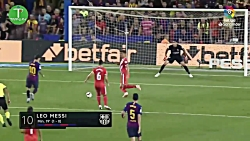 خلاصه بازی بارسلونا 2-2 خیرونا در لالیگا HD