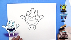 How To Draw the Ice Spirit from Clash Roya...