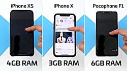 iPhone XS vs IPhone X vs Poco F1 _Speed Test