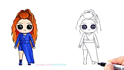 How to Draw Chibi Meghan Trainor step by s...