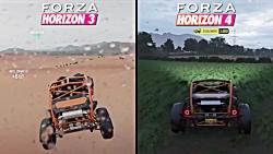 مقایسه بازی Forza Horizon 4 و Forza Horizon ۳