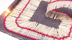 هنرنمایی فوق العاده زیبا و دیدنی با چوب کبریت