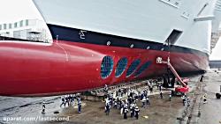 خداحافظی با عظیم ترین کشتی تفریحی ساخت دست بشر