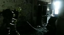 انفجار شدید و آتش سوزی در ساختمان مسکونی