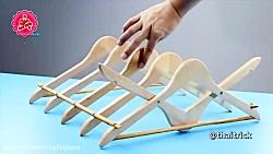 2 ایده خلاقانه با چوب لباسی