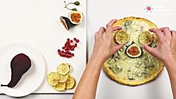 لذت آشپزی - طرز تهیه پیتزا میوه ای