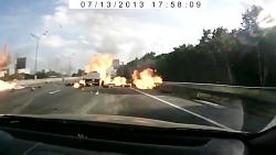 انفجار ماشین حمل اکسیژن  و چندتا گاز دیگه !!