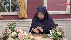 آموزش گل شاه پسند با خمیر گل چینی