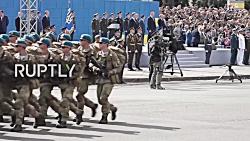 رژه ارتش اوکراین به منا...