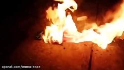 انفجار باتری لیتیومی ب...