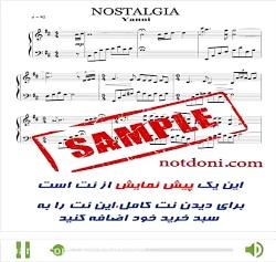 نت آهنگ nostaghia برای پیان...
