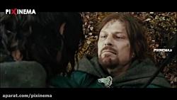 فیلم ارباب حلقه ها یک ، سکانس مرگ برومیر (شان بین) در نبرد با ارگ ها