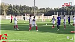 تمرین امروز تیم  ملی قب...