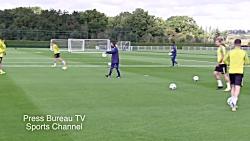 تمرین فوتبال قبل از مسا...