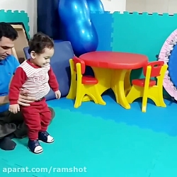اولین راه رفتن آقا محمد...
