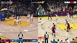 مقایسه ی گرافیکی بازی NBA 2K19 با عنوان NBA Live 19