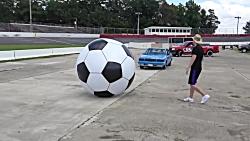 فوتبال با ماشین های واق...