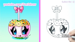 Cute Candy Apple - How to Draw Halloween P...