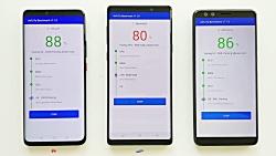 Huawei Mate 20 Pro vs Galaxy Note 9 vs HTC U12+ _AnTuTu Benchmark