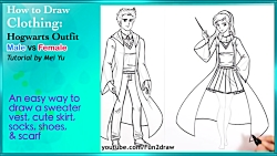 How to Draw Harry Potter Hogwarts Outfits ...