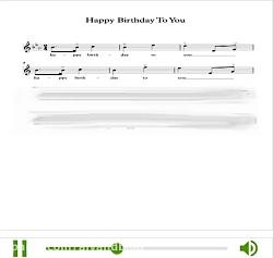 نت آهنگ تولدت مبارک خار...