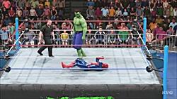 کشتی کج مرد عنکبوتی و هالک در WWE 2K19