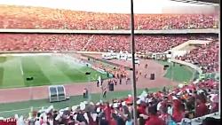 جو وحشتناک استادیوم آزادی هنگام ورود بازیکنان السد به زمین