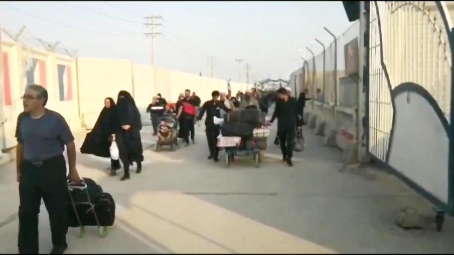 آخرین وضعیت تردد زائران از مرز شلمچه به کربلای معلی+فیلم