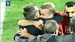 شادی بازیکنان و هواداران پرسپولیس پس از صعود به فینال لیگ قهرمانان آسیا
