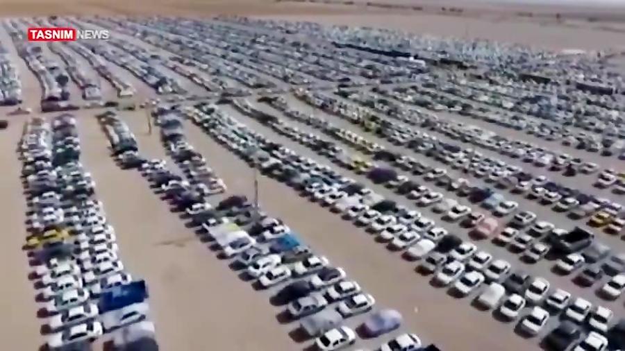 رستاخیر زائران اربعین در تصاویر هوایی از مهران +فیلم