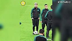 شوخی های خنده دار بازیکنان معروف فوتبال با یکدیگر