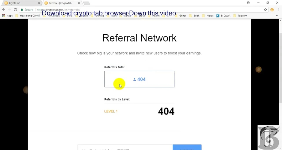 How to hack Referral on Crypto Tab