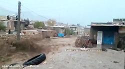 سیل بسیار شدید دیروز در یکی از روستاهای شهرستان چرداول(شله کش) از استان ایلام