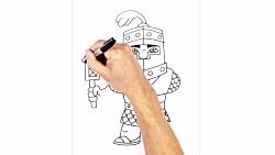 How to Draw Dark Prince   Clash Royale