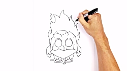 How to Draw Fire Spirit | Clash Royale