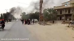 گزارش خبری داعش از حمله انها به شرق فرات و منطقه البوکمال