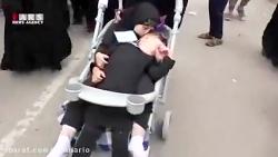 کودکانی که به زائران اربعین خدمت می کنند