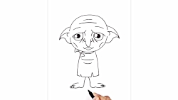 How to Draw Dobby | Harry Potter