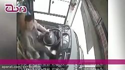 فیلم درگیری مرگبار راننده اتوبوس و مسافر