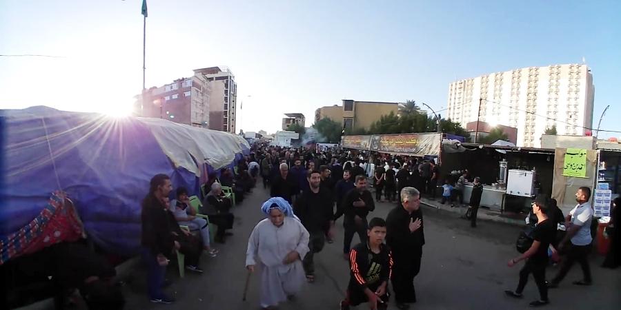 ویدیو 360 درجه از اربعین، کربلا به سمت حرم امام حسین(ع)