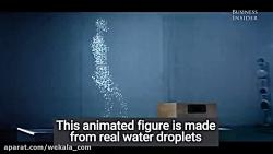 تلفیق دانش و هنر، ساخت شکل با قطره های آب
