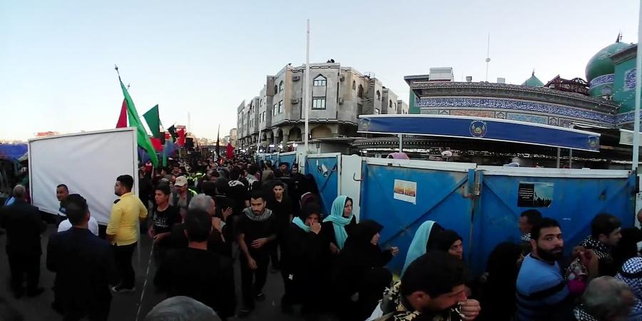 ویدیو 360 درجه کربلا راه حرم امام حسین نزدیک تل زینبیه
