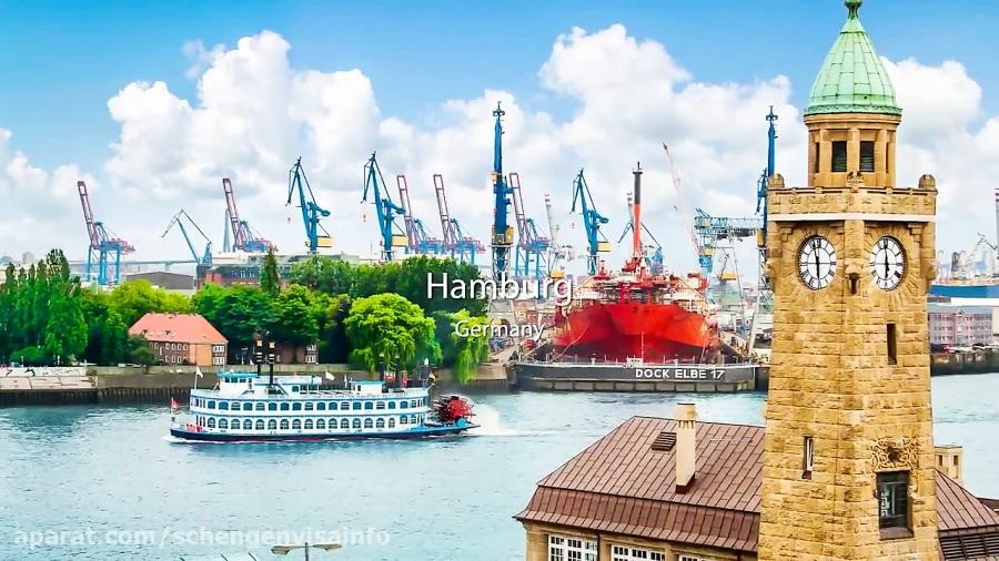 ویزای شینگن آلمان جاهای دیدنی شهر هامبورگ آلمان