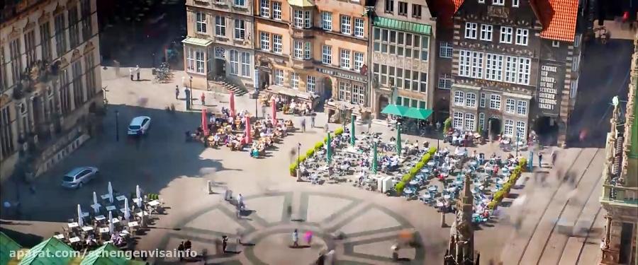 ویزای شینگن آلمان یک روز خوب در شهر برمن کشر آلمان