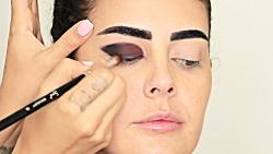آموزش آرایش چشم اسموكى با الناز گلرخ