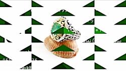انگشتر نقره زمرد زامبیا شاهانه و لوکس مردانه – کد ۲۹۷۱۷